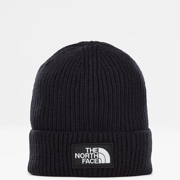 THE NORTH FACE LOGO BOX CUFFED BEANIE - Navy