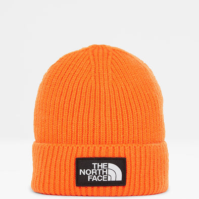THE NORTH FACE LOGO BOX CUFFED BEANIE - Orange