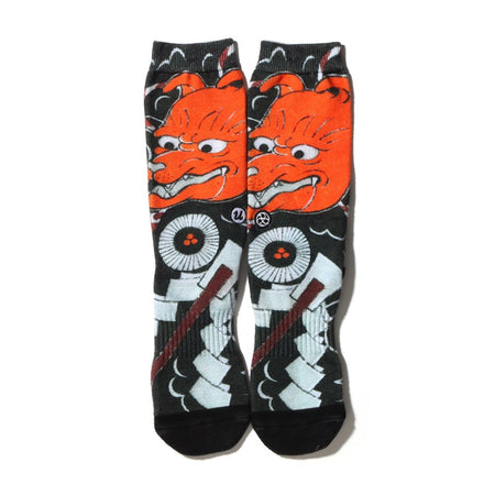 "THREE TIDES TATTOO × UBIQ ""IREZUMI"" SOCKS Okame Designed by MUTSUO"