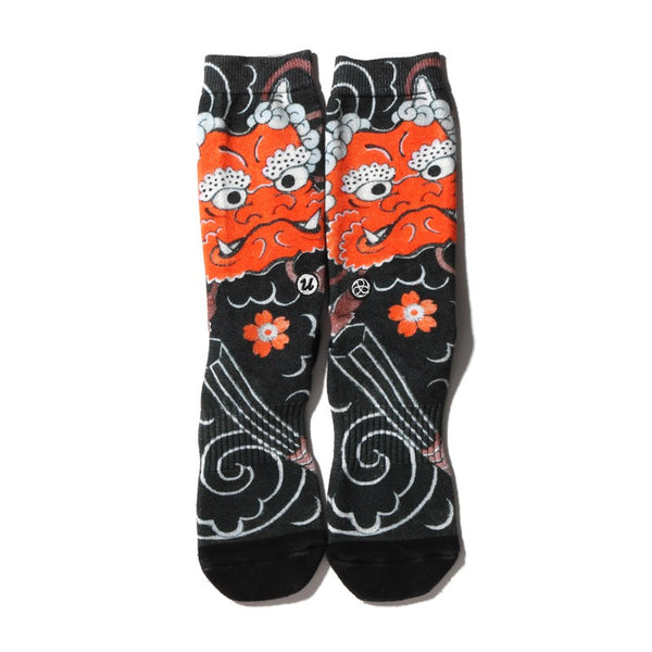 "THREE TIDES TATTOO × UBIQ ""IREZUMI"" SOCKS Oni"