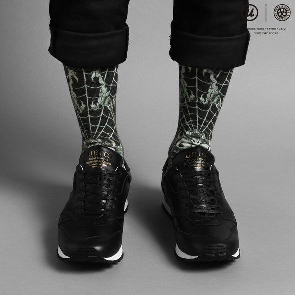 "THREE TIDES TATTOO × UBIQ ""IREZUMI"" SOCKS (Dokugumo)"