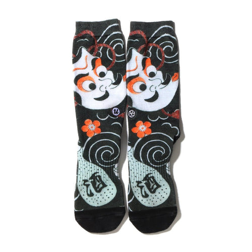 "THREE TIDES TATTOO × UBIQ ""IREZUMI"" SOCKS Hyottoko"