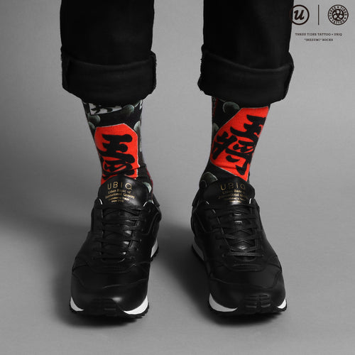 "THREE TIDES TATTOO × UBIQ ""IREZUMI"" SOCKS (Syougi)"