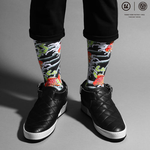 "THREE TIDES TATTOO × UBIQ ""IREZUMI"" SOCKS Kingyo"