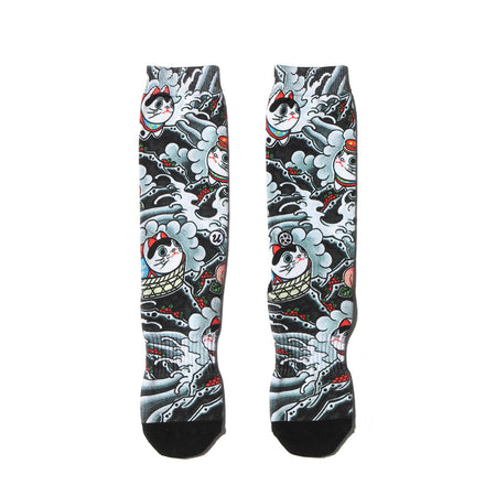 "THREE TIDES TATTOO × UBIQ ""IREZUMI"" SOCKS (Youkai)"