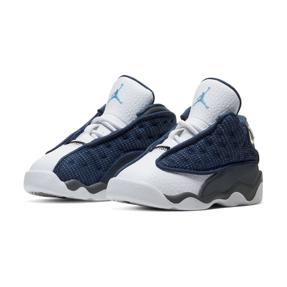 "JORDAN 13 RETRO ""FLINT"" TODDLERS - NAVY/UNIVERSITY BLUE-FLINT GREY-WHITE"