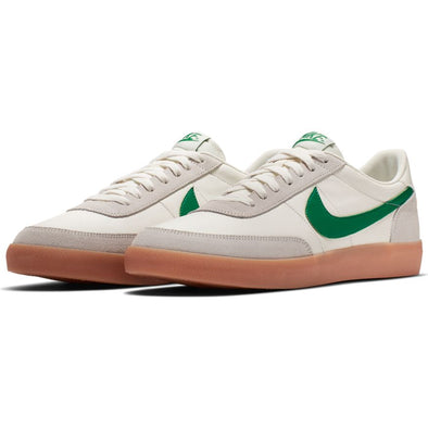 MEN'S NIKE KILLSHOT 2 LEATHER - SAIL/LUCID GREEN-GUM YELLOW