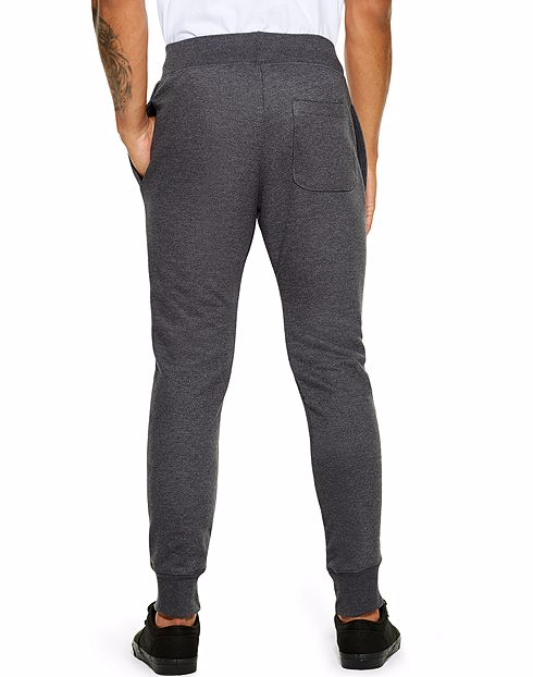 CHAMPION LIFE™ MEN'S REVERSE WEAVE® TRIM JOGGER PANTS - BLACK
