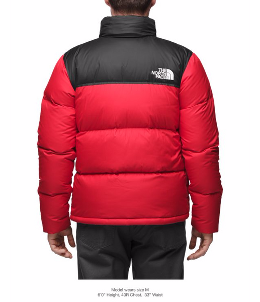 THE NORTH FACE MEN'S NOVELTY NUPTSE JACKET - TNF YELLOW / TNF BLACK