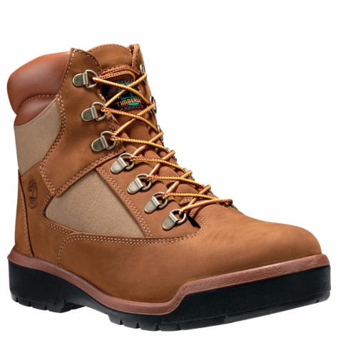 TIMBERLAND MEN'S 6-INCH WATERPROOF FIELD BOOTS - MEDIUM BROWN NUBUCK