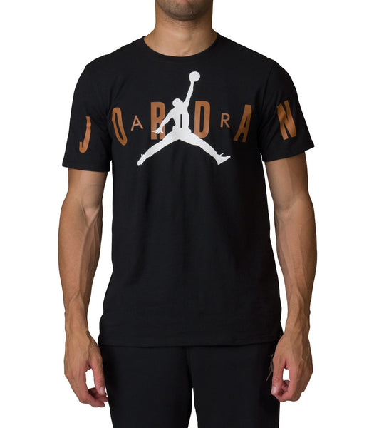 JORDAN RETRO 13 STRETCHED TEE - CHUTNEY BLACK WHITE