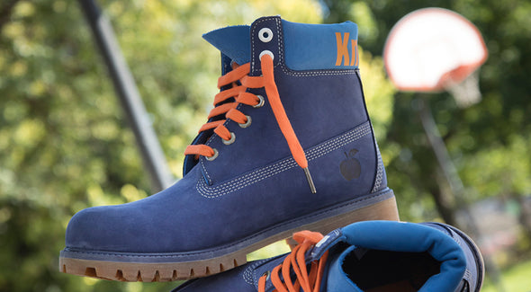 MEN'S TIMBERLAND X NBA NEW YORK KNICKS BOOTS - Blue / Orange