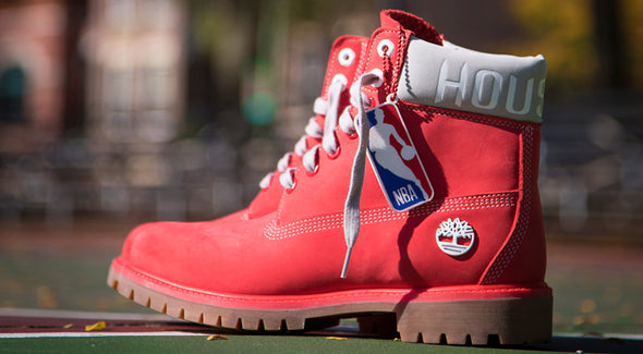 MEN'S TIMBERLAND X NBA HOUSTON ROCKETS BOOTS - Red / Tomato