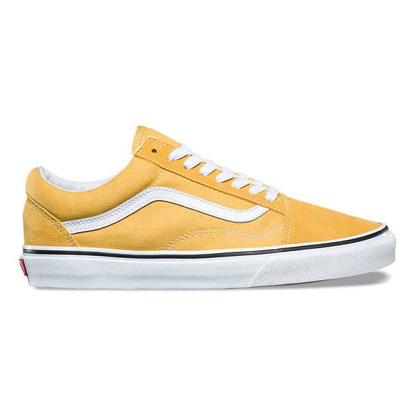 51d9d06c59357b VANS OLD SKOOL - Ochre Yellow   True White – Atmos New York