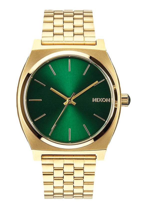 Nixon Time Teller 37MM Watch - GOLD / GREEN SUNRAY