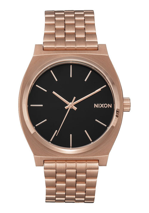 Nixon Time Teller 37MM Watch - ALL ROSE GOLD/ BLACK SUNRAY