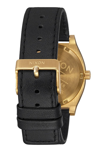 Nixon Time Teller Leather 37 MM -  GOLD / BLACK