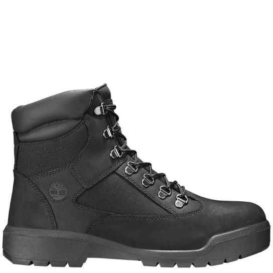 MEN'S 6-INCH WATERPROOF FIELD BOOTS-BLACK