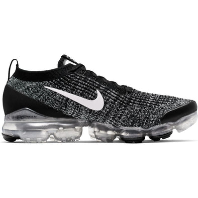MEN'S NIKE AIR VAPORMAX FLYKNIT 3 - BLACK/WHITE-METALLIC SILVER