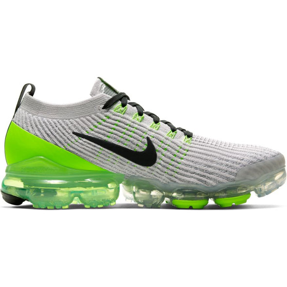 MEN'S NIKE AIR VAPORMAX FLYKNIT 3 - VAST GREY/OFF NOIR-ELECTRIC GREEN-WHITE