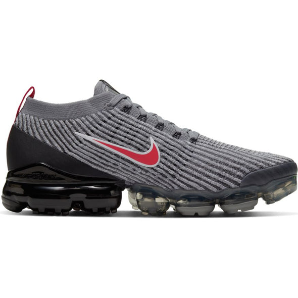 MEN'S NIKE AIR VAPORMAX FLYKNIT 3 - PARTICLE GREY/UNIVERSITY RED-BLACK
