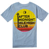 AFTER MIDNIGHT MILE HIGH CLUB S/S TEE - CHAMBRAY/MULTI