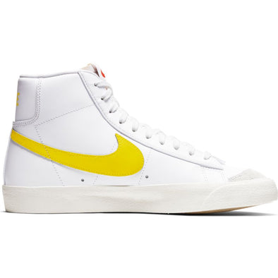 MEN'S NIKE BLAZER MID '77 VINTAGE - WHITE/OPTI YELLOW
