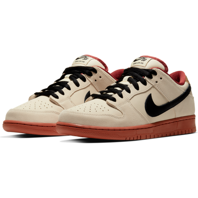 NIKE SB DUNK LOW PRO MUSLIN/BLACK-MUSLIN-RUGGED ORANGE