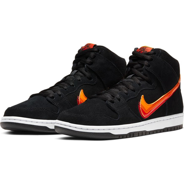 MEN'S NIKE SB DUNK HIGH PRO - BLACK/UNIVERSITY GOLD-TEAM ORANGE