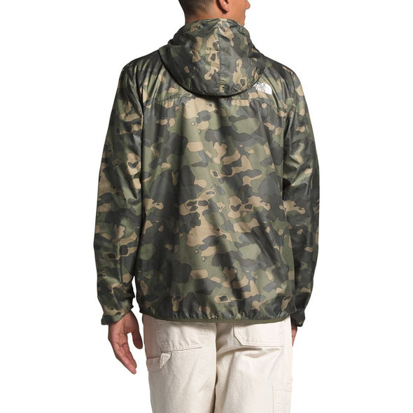 MEN'S TNF NOVELTY FANORAK WINDBREAKER - BURNT OLIVE GREEN PONDEROSA PRINT