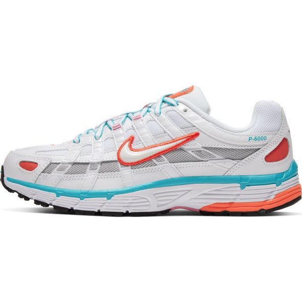 WMNS NIKE P-6000 - WHITE/WHITE-ORACLE AQUA-MAGIC FLAMINGO