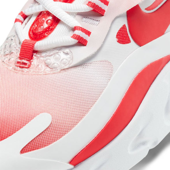 WMNS NIKE AIR MAX 270 REACT SE - WHITE/TRACK RED-BARELY ROSE