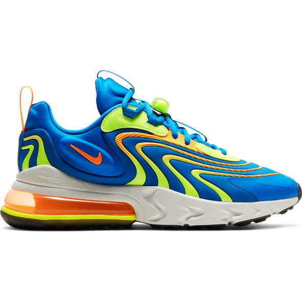 MEN'S NIKE AIR MAX 270 REACT ENG - SOAR/TOTAL ORANGE-VOLT-PLATINUM TINT
