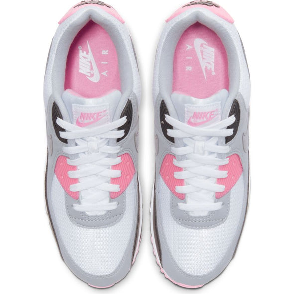 MEN'S NIKE AIR MAX 90 - WHITE/PARTICLE GREY-ROSE-BLACK