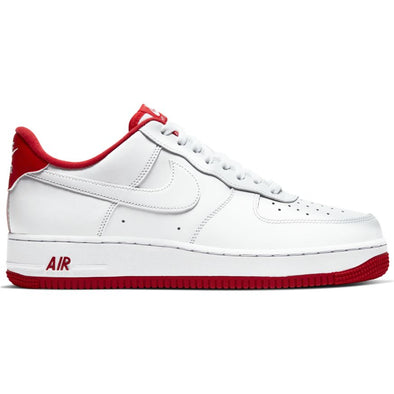 MEN'S NIKE AIR FORCE 1 '07 - WHITE/UNIVERSITY RED