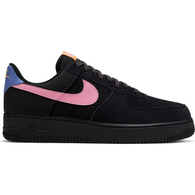 MEN'S NIKE AIR FORCE 1 '07 LV8 - BLACK/MAGIC FLAMINGO-PERSIAN VIOLET