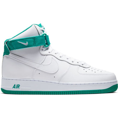 MEN'S NIKE AIR FORCE 1 HIGH '07 - WHITE/WHITE-NEPTUNE GREEN