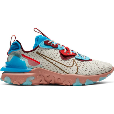 MENS NIKE REACT VISION - LIGHT BONE/TERRA BLUSH-PHOTO BLUE