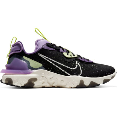 MEN'S NIKE REACT VISION - BLACK/SAIL-DK SMOKE GREY-GRAVITY PURPLE