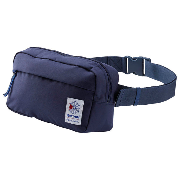 REEBOK CLASSIC THROWBACK ZIPPERED WAISTBAG - Navy
