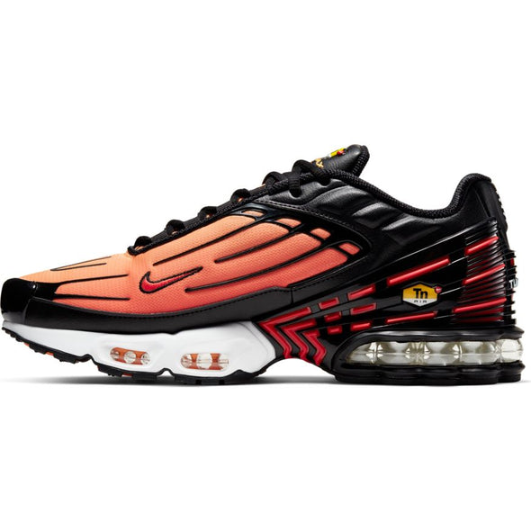 MEN'S NIKE AIR MAX PLUS III - BLACK/PIMENTO-BRIGHT CERAMIC-RESIN