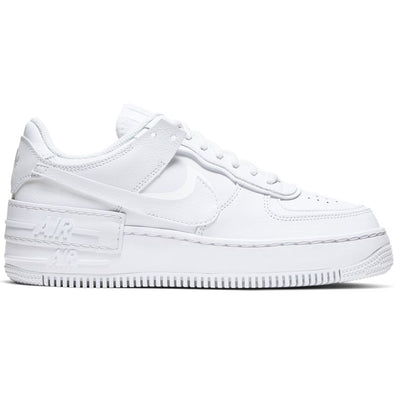 WMNS NIKE AIR FORCE 1 SHADOW - WHITE/WHITE-WHITE