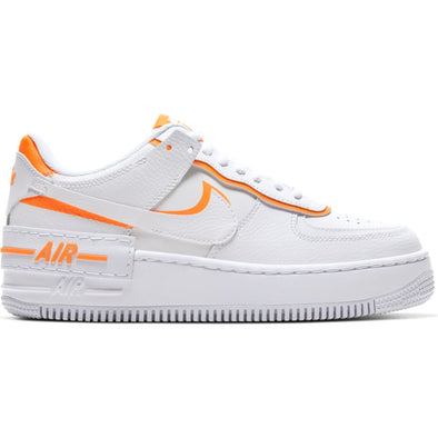 WMNS NIKE AIR FORCE 1 SHADOW - WHITE/SUMMIT WHITE-TOTAL ORANGE
