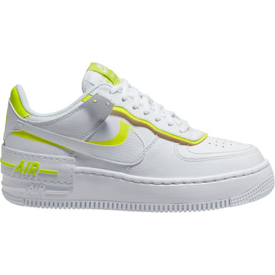 WMNS NIKE AIR FORCE 1 SHADOW - WHITE/WHITE-LEMON VENOM