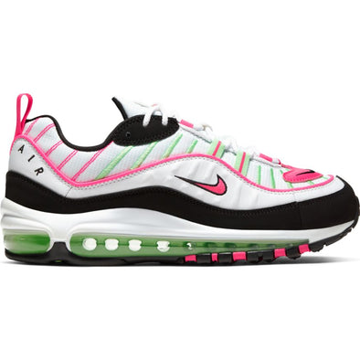 WMNS NIKE AIR MAX 98 - WHITE/HYPER PINK-ILLUSION GREEN-BLACK