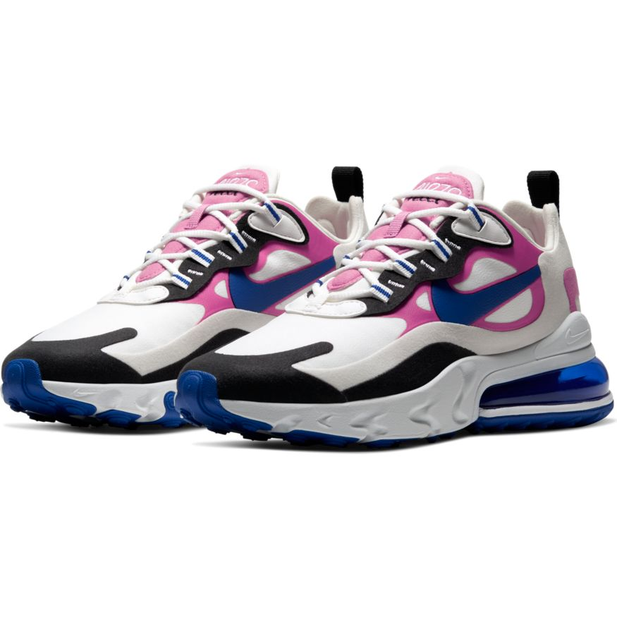 Wmns Nike Air Max 270 React Summit White Hyper Blue Cosmic
