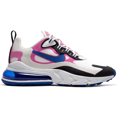 WMNS NIKE AIR MAX 270 REACT - SUMMIT WHITE/HYPER BLUE-COSMIC FUCHSIA
