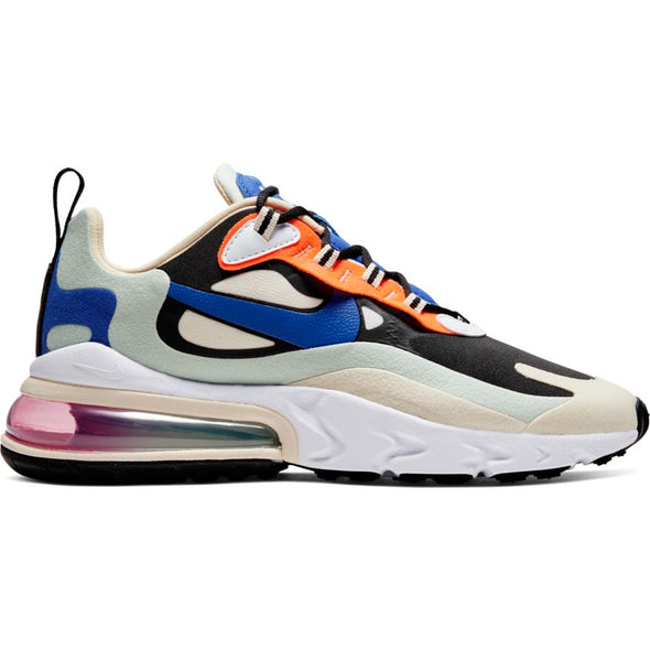 WMNS NIKE AIR MAX 270 REACT - FOSSIL/HYPER BLUE-BLACK-PISTACHIO FROST