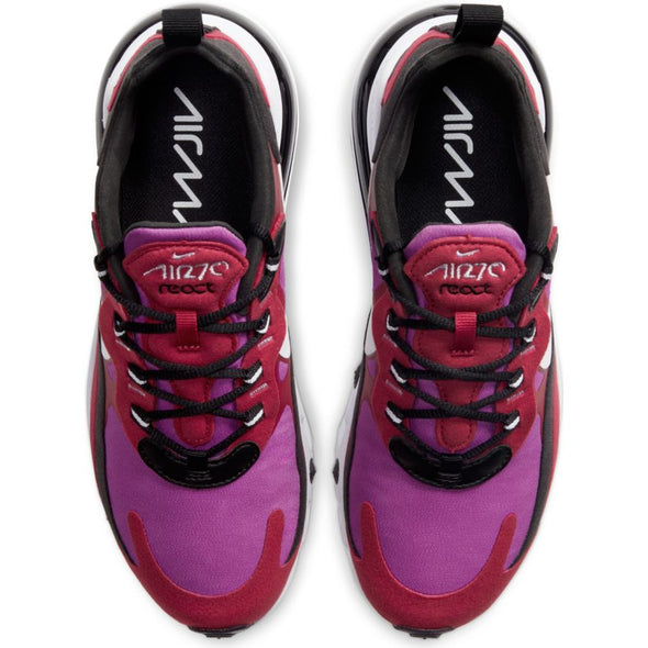 WMNS NIKE AIR MAX 270 REACT - NOBLE RED/WHITE-VIVID PURPLE-BLACK