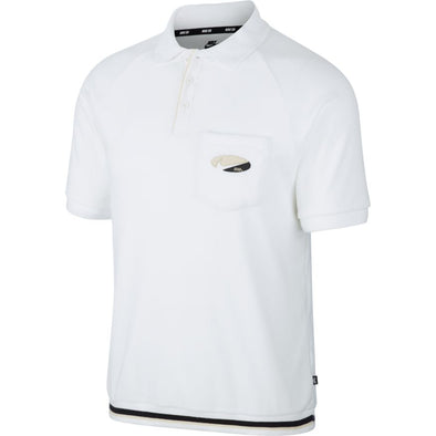 MEN'S NIKE SB SKATE POLO - WHITE/FOSSIL